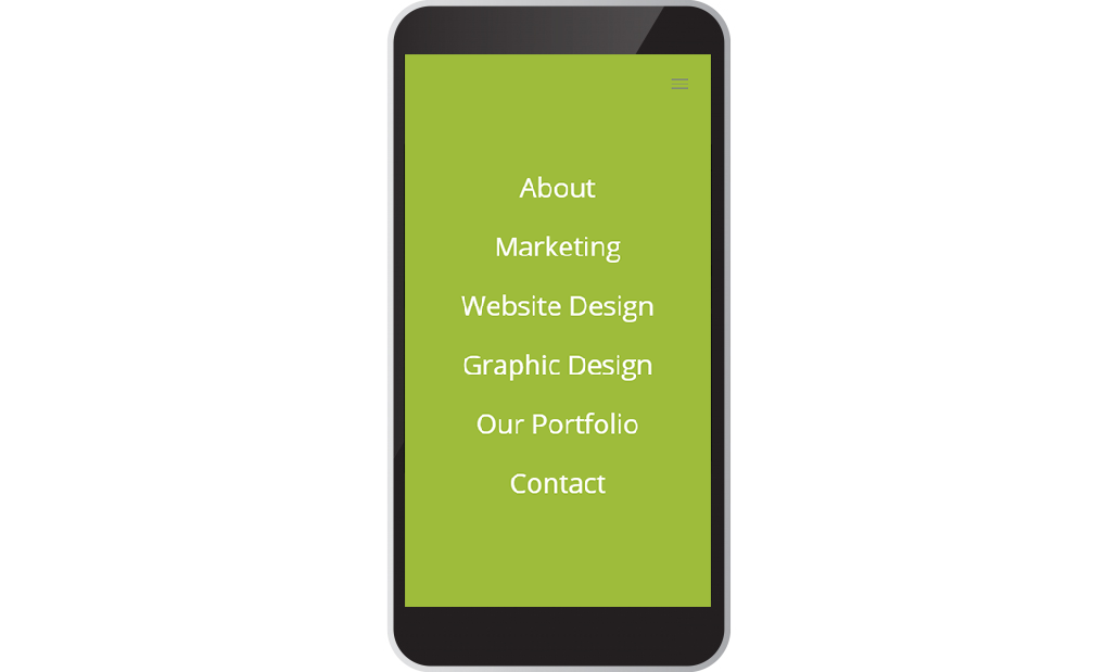 Kick Back Create Website Design on a mobile device
