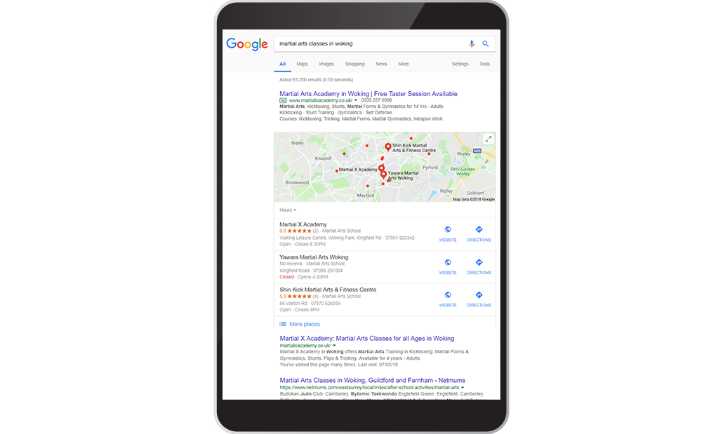 Martial X Academy Search Results