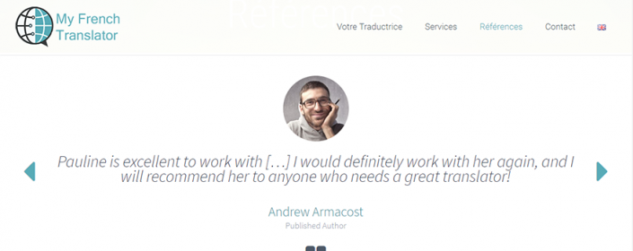 My French Translator Testimonial Page